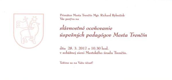 Deň učiteľov 2017 pozvánka