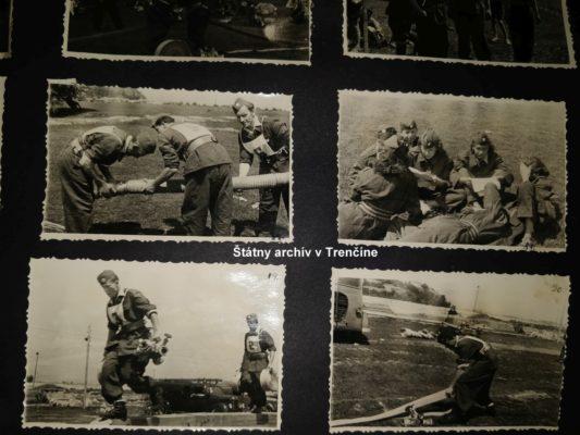 Cvičenia trenčianskych hasičov okolo roku 1960