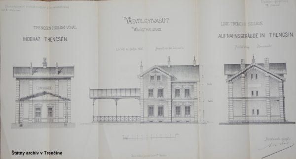 Pôvodná budova železničnej stanice z roku 1883