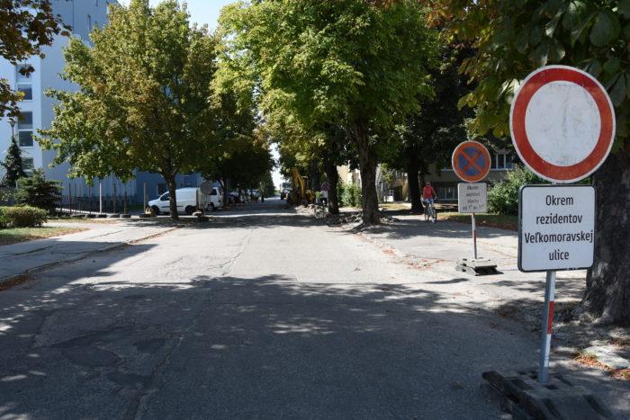 veľkomoravská ulica je v rekonštrukcii
