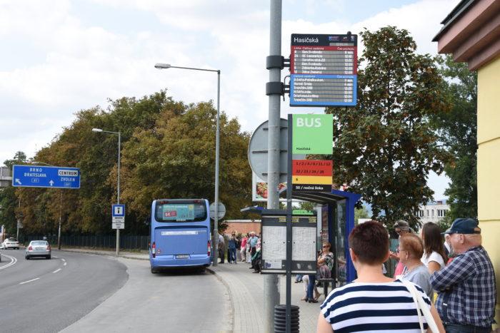 info tabuľa o odhcode autobusov