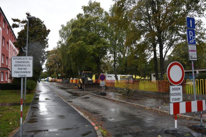 práce na Gagarinovej ulici