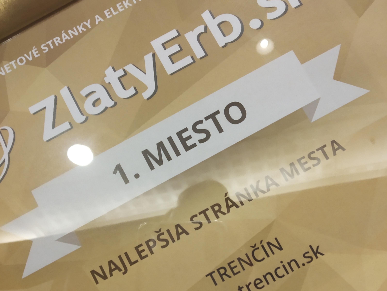 Trenčín má cenu za Najlepšiu stránku mesta » Mesto Trenčín aa8d4e8d37c