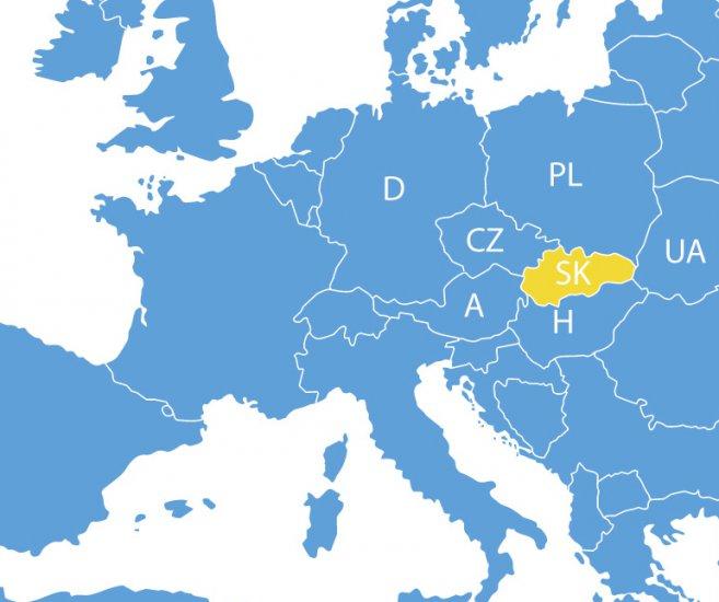 mapa Európy