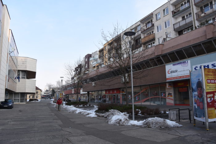 pešia zóna Hviezdoslavova
