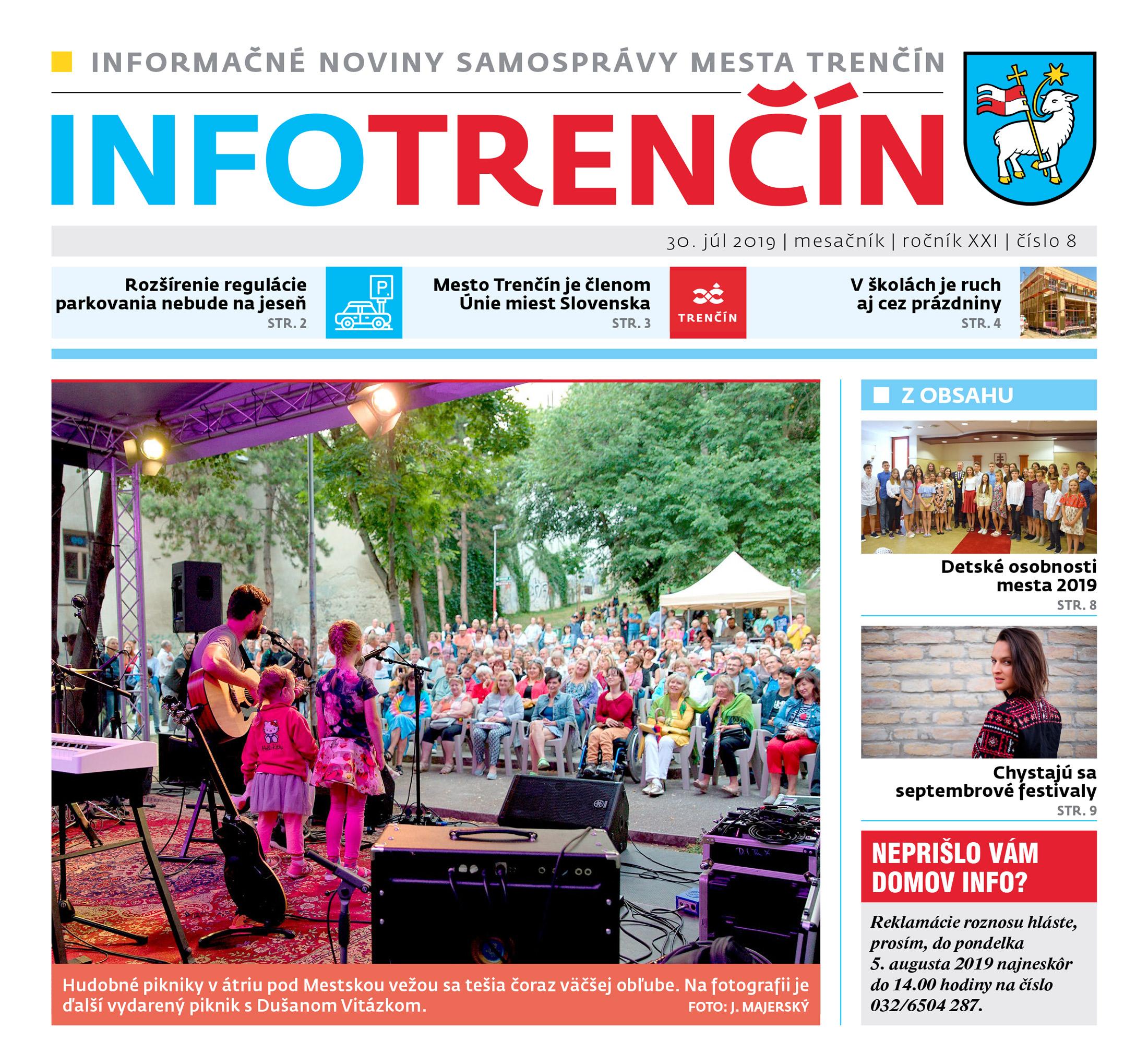 INFO Trenčín - august 2019