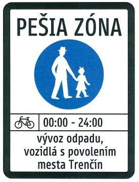 značka pešia zóna 2
